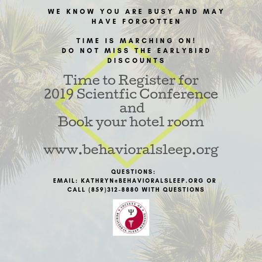 Reminder Register for Conference July 2019
